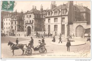 La prison vue depuis la rue du faubourg Saint Denis
