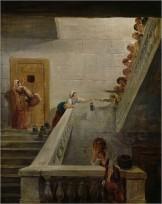 Peinture de la prison Saint-Lazare par Hubert Robert