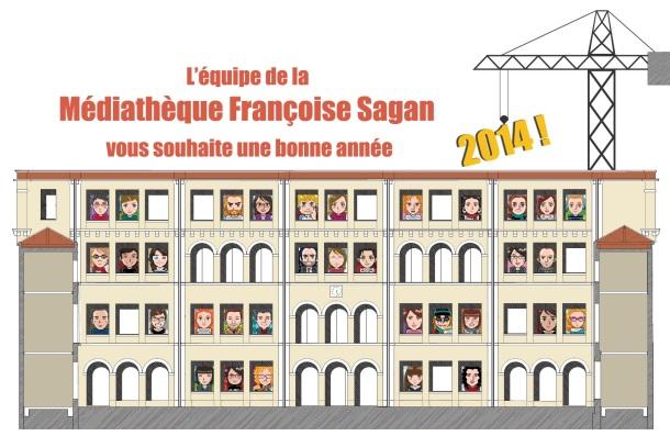Carte de voeux Médiathèque Françoise Sagan blog