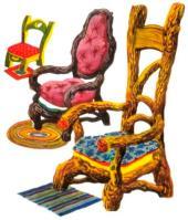 carte postale les chaises