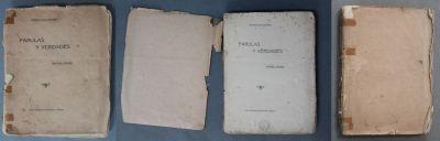 Avant : Fabulas y verdades, Rafael Pombo, Bogota, Imprenta nacional, 1916, cote : FA in4 99
