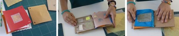 3 exemples de transparene avec du calque, du tissu etc
