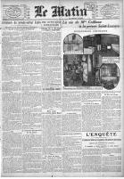 Henriette Caillaux à la prison, Le matin, 1914